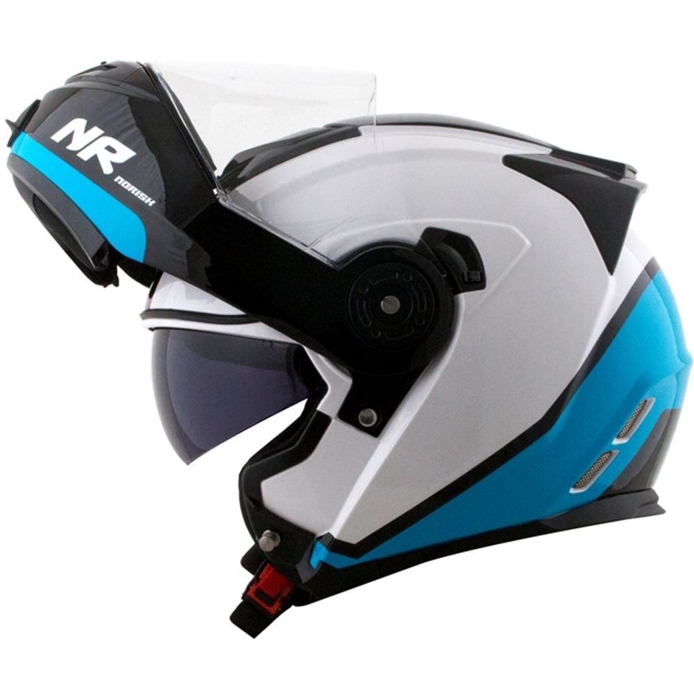 capacete-norisk-route-ff345-articulado-chance-branco-azul-preto-brilho