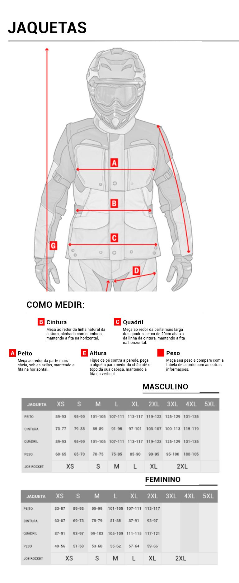 guia de medidas jaqueta mobile