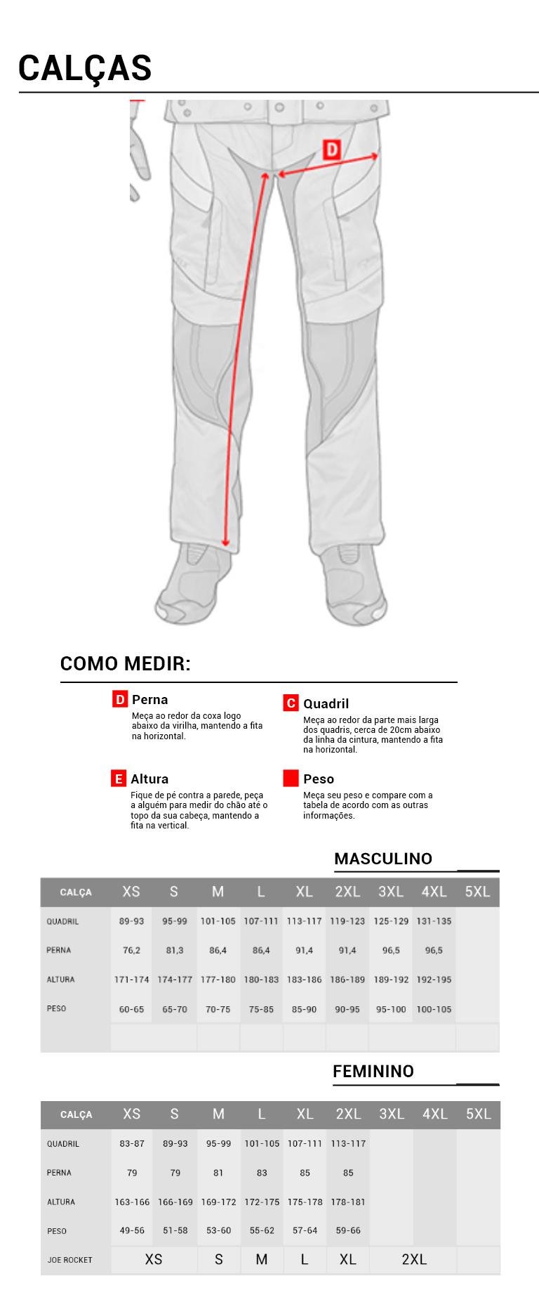 guia medida calça mod
