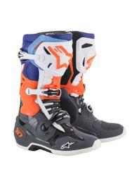 Bota-alpinestars-tech-10-cinza-laranja-fluo-azul