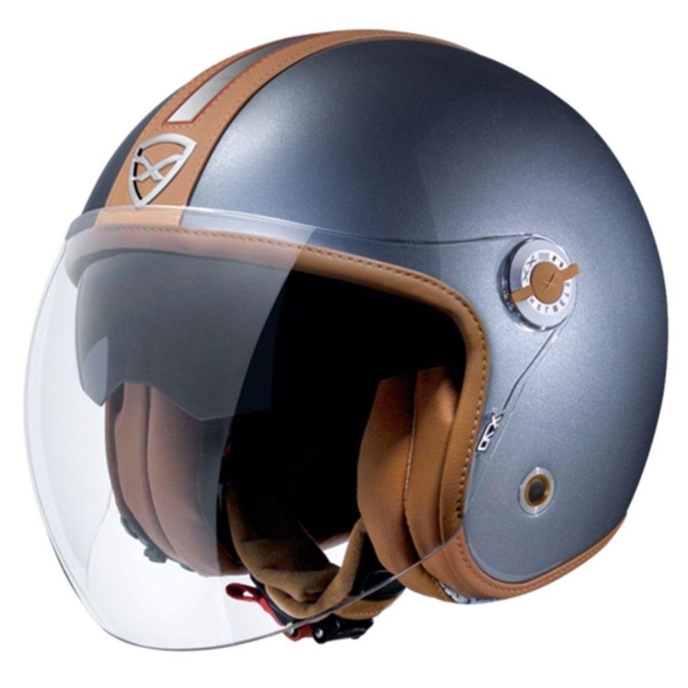 Capacete-Aberto-Nexx-X70-Groovy-Titanio-Caramelo