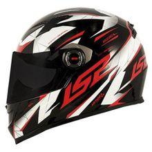 Capacete-Moto-LS2-FF358-Draze-Preto-Branco-e-Vermelho