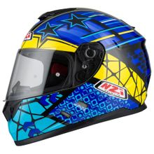 Capacete-moto-NZI-Fusion-Flechas-Preto-Azul-e-Amarelo