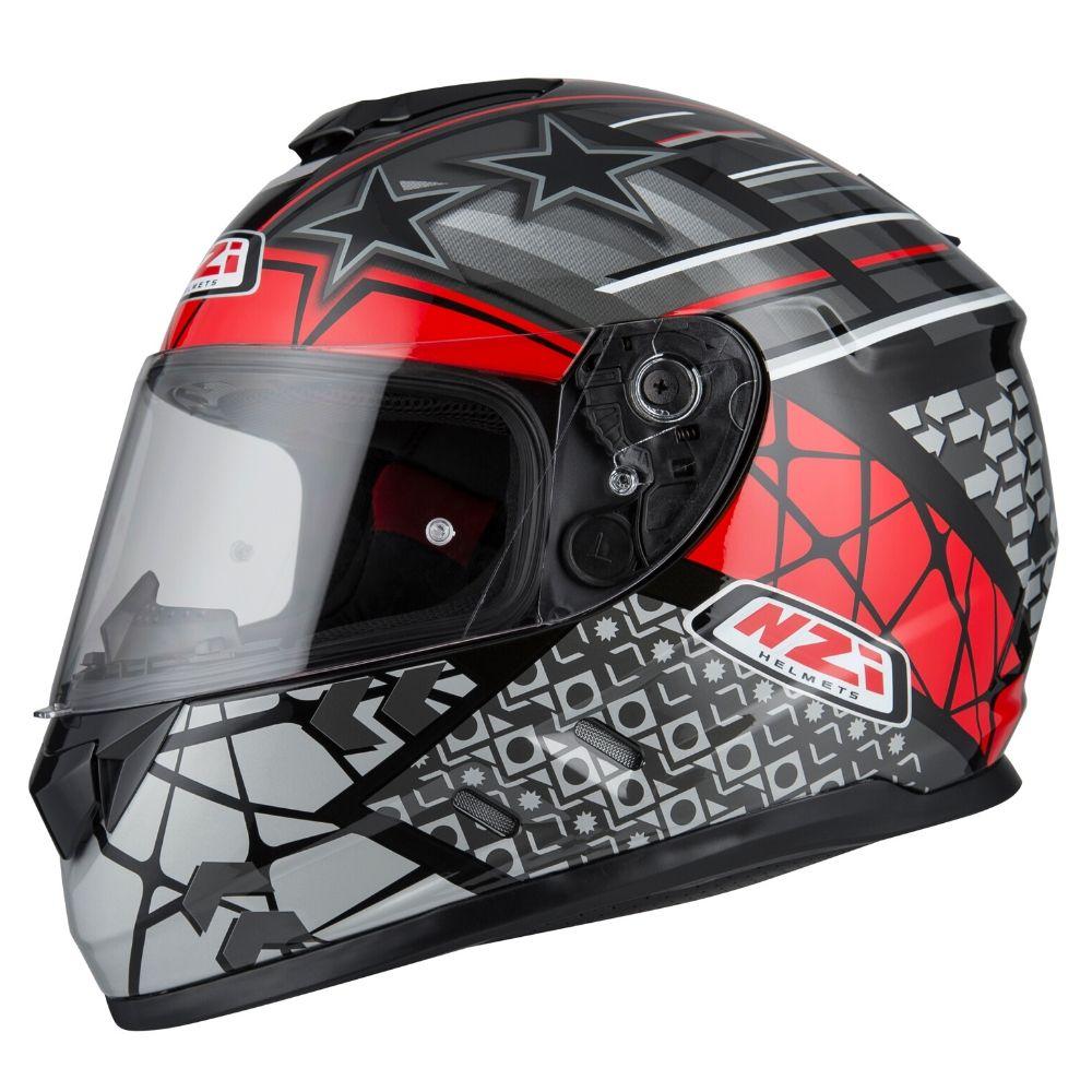 Capacete-moto-NZI-Fusion-Flechas-Preto-Cinza-e-Vermelho