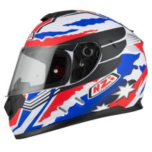 Capacete-moto-NZI-Fusion-Mick-Antracite-Azul-Vermelho-e-Branco