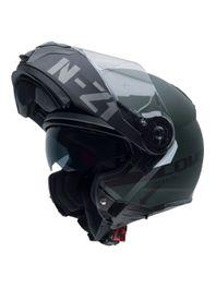 Capacete-Moto-NZI-Combi2-Duo-Flydeck-Verde-Fosco