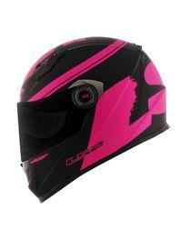 Capacete-LS2-FF358-Classic-Fluo-Matt-Black-Pink