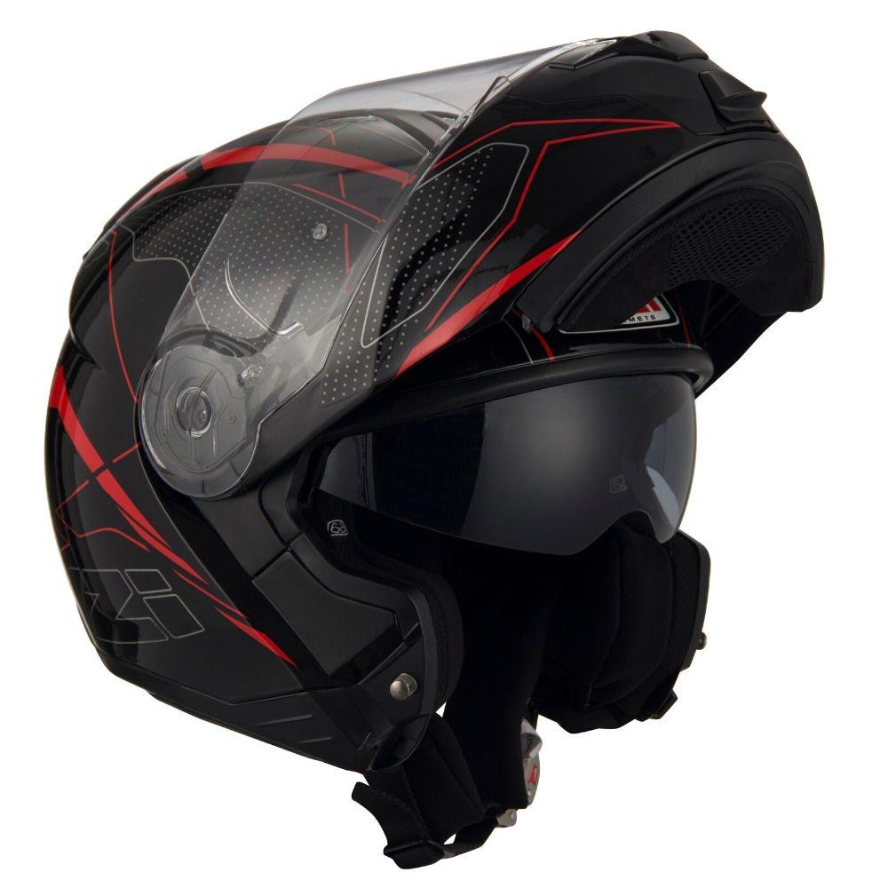 Capacete-Moto-Articulado-NZI-Combi2-Duo-Sword-Preto-Vermelho