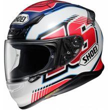 Capacete-Shoei-NXR-Cluzel-TC-1-Branco-Vermelho-Azul