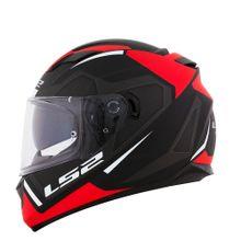 Capacete-LS2-FF320-Edge-Preto-Cinza-Vermelho-Fosco