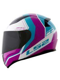 Capacete-LS2-FF353-Candie-Branco-Rosa-Azul