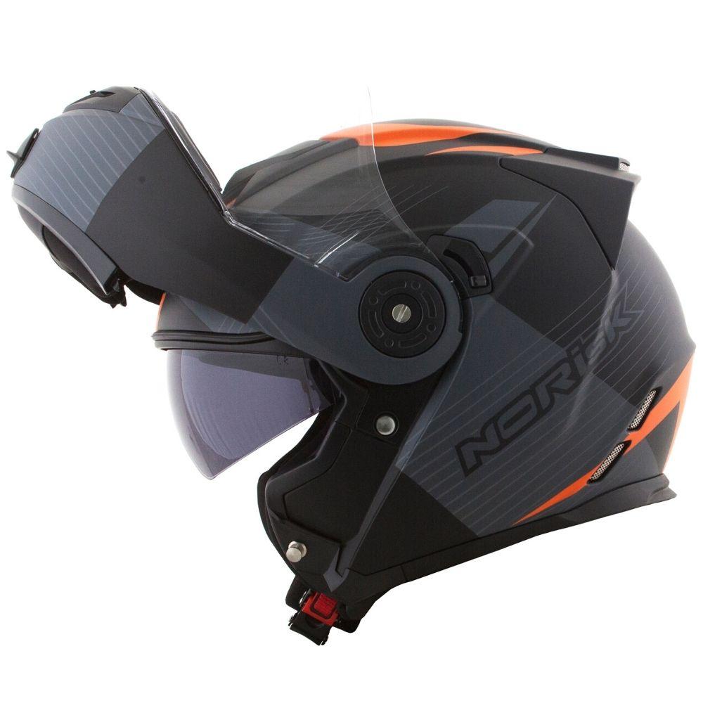 Capacete-Norisk-FF345-Stroke-Preto-Cinza-Laranja-Fosco