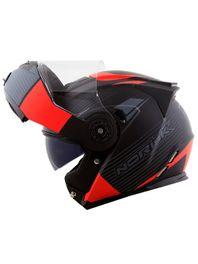 Capacete-Articulado-Norisk-FF345-Stroke-Preto-Cinza-Vermelho-Fosco