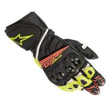 Luva-Moto-Alpinestars-GP-Plus-R-V2-Preto-Amarelo-Vermelho-Fluo