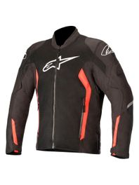 Jaqueta-Moto-Alpinestars-Viper-V2-Air-Preto-Vermelho-Fluo
