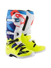 bota-alpinestars-new-tech-7-amarelo-azul-branco