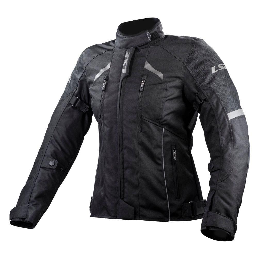 Jaqueta-Moto-LS2-Serra-Lady-Evo-Feminina-Impermeavel-Preto