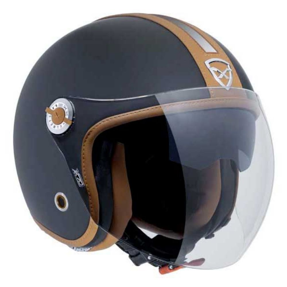 Capacete-Aberto-Nexx-X70-Groovy-Preto-e-Caramelo-Fosco