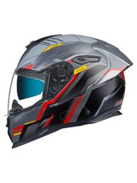 Capacete-Nexx-SX100R-Gridline-Cinza-Vermelho-Fosco