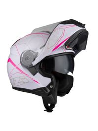 Capacete-Moto-Articulado-NZI-Combi2-Duo-Sword-Branco-e-Rosa