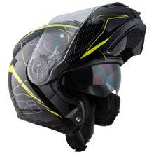 Capacete-Moto-Articulado-NZI-Combi2-Duo-Sword-Preto-e-Amarelo