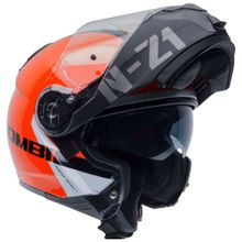 Capacete-Moto-Articulado-NZI-Combi2-Duo-Flydeck-Laranja