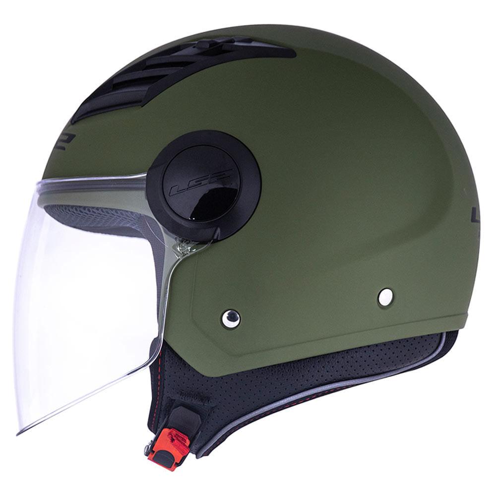 Capacete-LS2-OF562-Aberto-Airflow-Monocolor-Verde-Militar