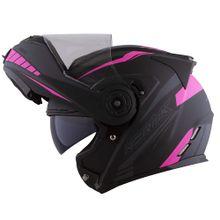 Capacete-Norisk-FF345-Route-Motion-Preto-e-Pink-Fosco