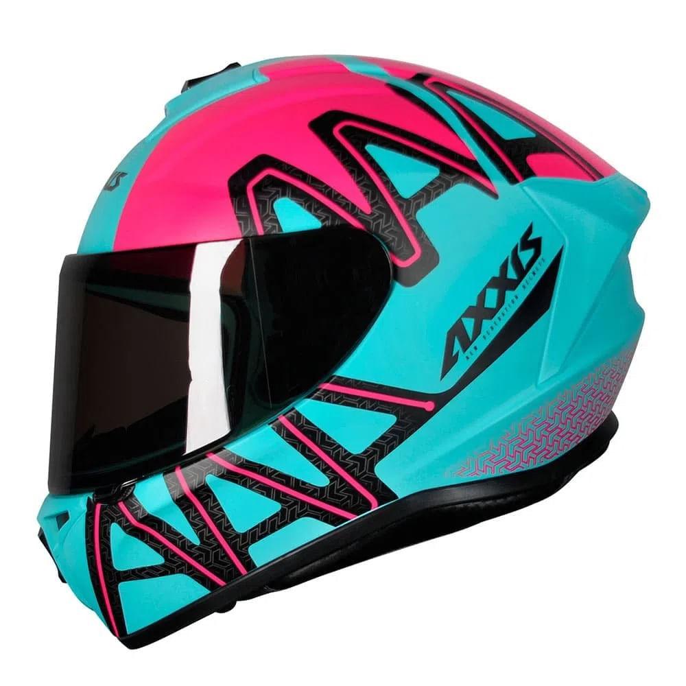 Capacete-Axxis-Draken-Dekers-Tifany-Fosco-Verde-Rosa