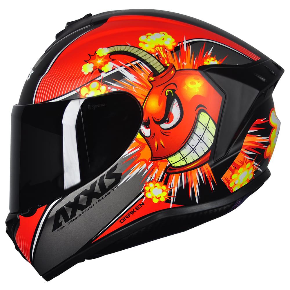 Capacete-Axxis-Draken-Bomb-Preto-Fosco-Vermelho