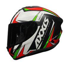 Capacete-Axxis-Vector-Preto-Branco-Verde