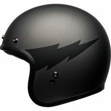 capacete_bell_custom_500_thunderclap_cinza_fosco_preto_aberto